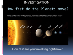 How fast do the Planets move?