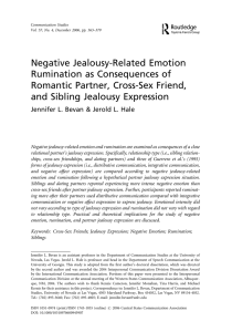 Negative Jealousy-Related Emotion Rumination