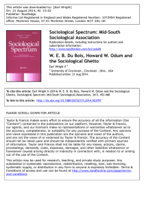 Sociological Spectrum: Mid-South Sociological Association W. E. B.