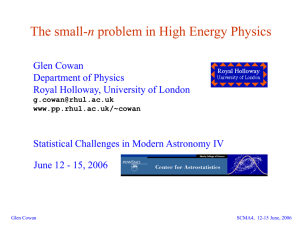 Title of slide - Centre for Particle Physics