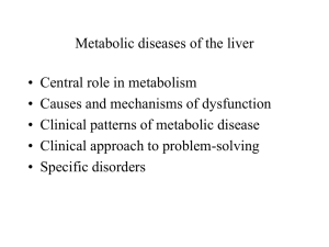 Metabolic diseases of the liver