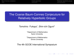 The Coarse Baum-Connes Conjecuture for Relatively Hyperbolic