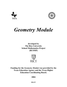 Geometry Module - Rice University Math