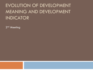 Evolution of Development Meaning and Development