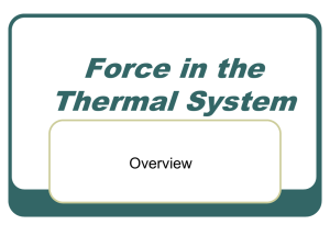Force in the Thermal System