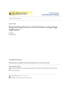 Regional lung function and mechanics using image registration