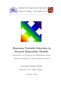 Bayesian Variable Selection in Normal Regression Models