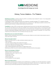 Kidney Tumor Ablation– For Patients