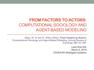 Computational Sociology and Agent-Based Modeling