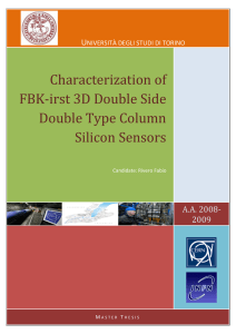 Characterization of FBK-irst 3D Double Side Double Type Column