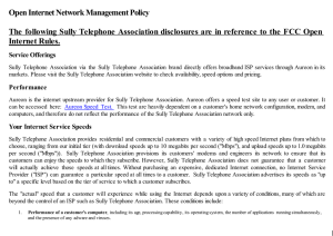 Open Internet Network Management Policy