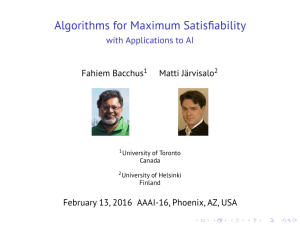 Algorithms for Maximum Satisfiability