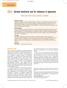 Corneal hysteresis and its relevance to glaucoma