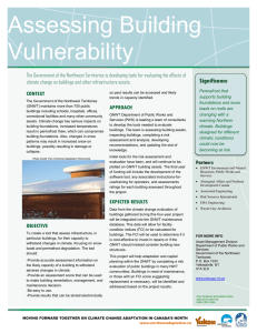 Assessing Building Vulnerability - Environment and Natural Resources
