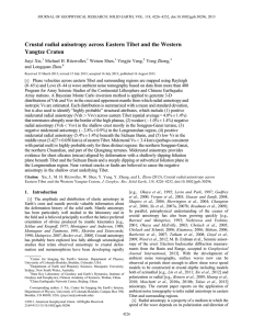 Crustal radial anisotropy across Eastern Tibet and the Western