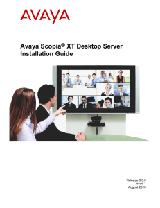 Deployment Guide for Avaya Scopia® XT Desktop Server
