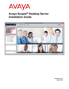 Installation Guide for Avaya Scopia® Desktop Server