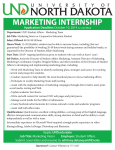 UND Student Affairs Marketing Internship