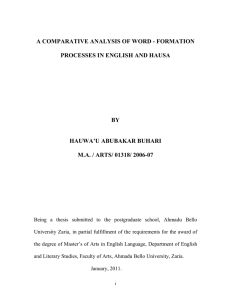 a comparative analysis of word - formation processes in english and