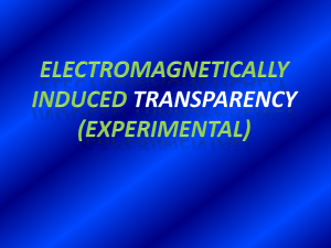 Experimental proposal for electromagnetically
