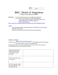 Name: Block: ______ Date: BBC: Head of Augustus A History of the