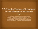 7.2 Complex Patterns of Inheritance and Genetics Portfolio Product