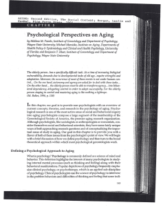 Psychological Perspectives on Aging