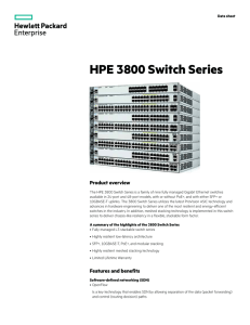 HPE 3800 Switch Series data sheet