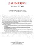 Defining Documents in World History: Ancient World (2700 B.C.E.