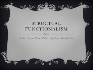 structual functionalism - BCI