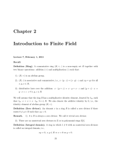 Chapter 2 Introduction to Finite Field