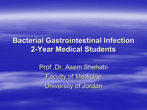 Bacterial Gastrointestinal Infection