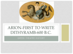 ARION-FIRST TO WRITE DITHYRAMB-600 B.C.