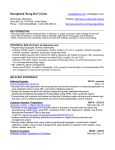 Resume - University of Utah School of Computing