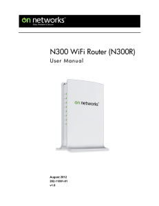 On Networks N300 WiFi Router(N300R) User Manual