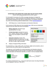 ADVERTISING AND MARKETING GUIDELINES FOR APP