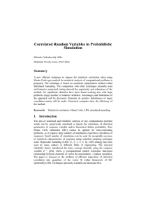 Correlated Random Variables in Probabilistic Simulation
