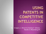 Using patents in competitive intelligence