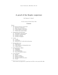 A proof of the Kepler conjecture