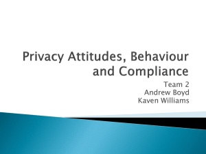 Privacy Attitudes, Behaviour and Compliance