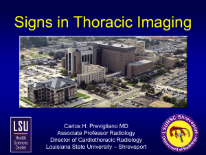 Signs in Thoracic Imaging