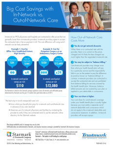Big Cost Savings with In-Network vs. Out-of-Network