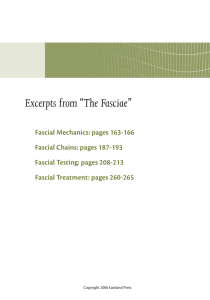 "Excerpts from ""The Fasciae"""