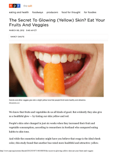 The Secret To Glowing (Yellow) Skin? Eat Your Fruits And Veggies