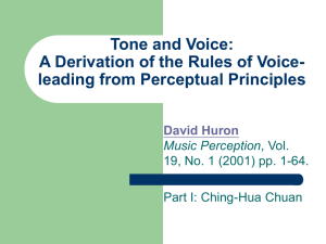 A Derivation of the Rules of Voice-leading from Perceptual Principles