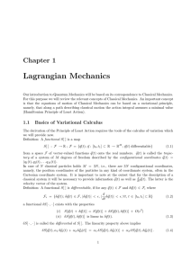 Chapter 1: Lagrangian Mechanics