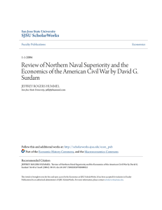 Review of Northern Naval Superiority and the Economics of the