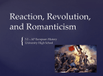 chapter 21 reaction revolution and romanticism Start studying chapter 21: reaction, revolution, and romanticism (1815-1850)-ap euro (brewer) learn vocabulary, terms, and.