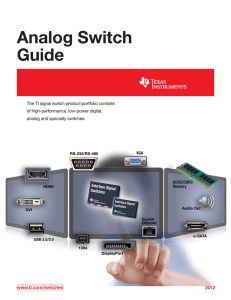 Analog Switch Guide (Rev. D)