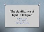 How is light represented in Religion?